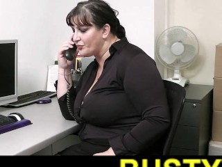 Hot office fuck with busty lady...