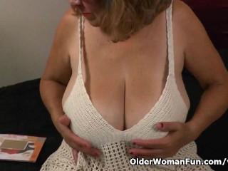 Silky nylon gets granny brenda mood...