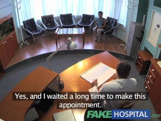 Fakehospital patient overhears nurse then fucks him too