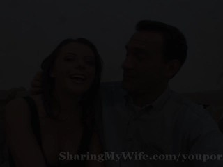 Naughty housewife surprises hubby by the...