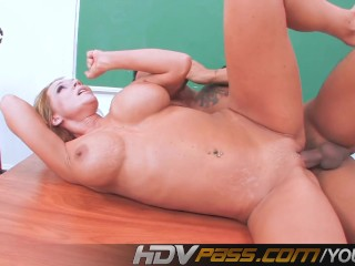 Busty MILF Nikki Sexx Pleases Asian Student