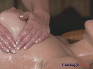 Massage Rooms Hot Czech lesbian gives big boobs brunette a serious orgasm