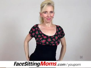Cfnm facesitting with hairy pussy amateur mom Maya