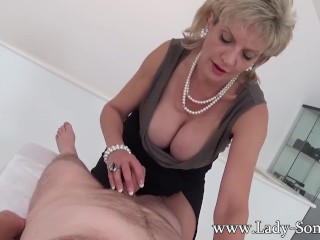 Milf Lady Sonia With First Timer Massage...