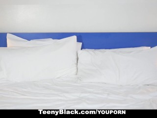 TeenyBlack   Ebony Babe Loves Taking Cock In Interview...