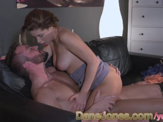 danejones-cute-babe-gets-hot-fuck-and-creampie-on-couch