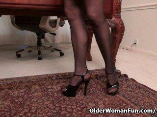 Office Eva Griffin Gives A Treat...