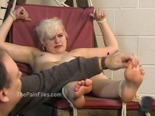 Kinky blondes and spanking of crying slave girl chaos in falaka and nipple clamped tit torments...