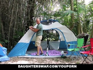Daughterswap hot outdoors by dads