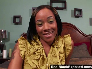 Realblackexposed she takes every inch  massive cock