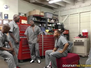 Angel smalls gets gangbanged by bbc s...
