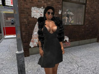 une-trxc3xa8s-jolie-brune-virtuelle-en-mini-robe