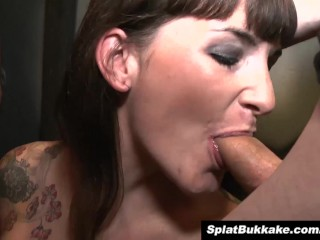 Gorgeous uk ebony lola marie takes facials bukkake...