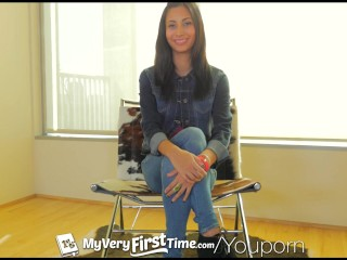 Myveryfirsttime nervous jade jantzen has her on camera...