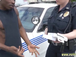 Big tit blonde lesbian cop first time Black suspect taken on a rough ride