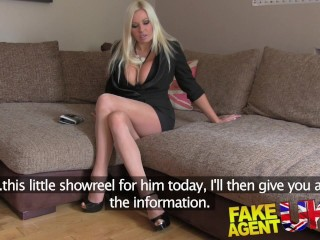 FakeAgentUK Sultry blonde with big tits gets tied up and fucked rotten