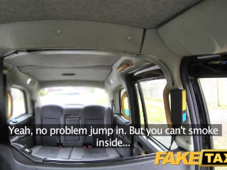 Faketaxi boots in fishnet lingerie...