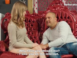 Irina a big guy seduces a...