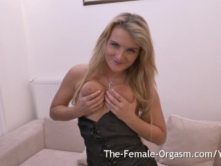 Big natural breasts hitachi masturbation to orgasm