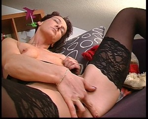 masturbating,,milf,,mature,,german,,euro,,lingerie,,brunette,,short,hair,,stockings,,tattoo,solo,girl