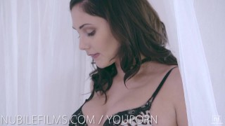 romantic, cum in mouth, hardcore, blowjob, petite, pornstar, hard fast fuck, sensual, doggystyle, couple, ariana marie, nubilefilms romantic, hd