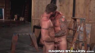 ragingstallion, raging stallion, hunk, muscular, big dick, blowjob, anal, safe sex, tattoos anal, hd
